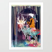 A boy and his deer Art Print