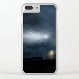 The Moon Touches Your Shoulder Clear iPhone Case
