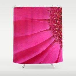 Pink Sunburst Shower Curtain
