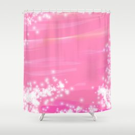 Pink Sparkles Shower Curtain