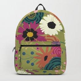 Verde Floral Backpack