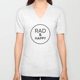 Rad & Happy Unisex V-Neck