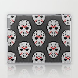 Knitted Jason hockey mask pattern Laptop & iPad Skin