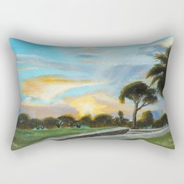 """""""Hope, Outside the Castillo"""" St Augustine, FL Rectangular Pillow"""
