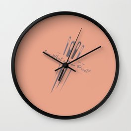 Vintage Sew So Whats Your Point Funny Pun Sewing Wall Clock