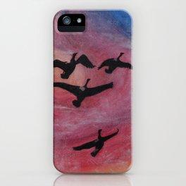 Freedom Flyers Acrylic Painting iPhone Case