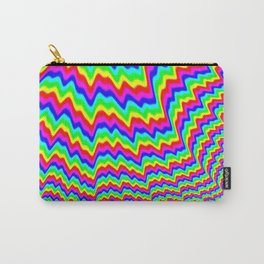 Mind Melt I: A Psychedelic Overload of Colors and Wavy Lines Carry-All Pouch