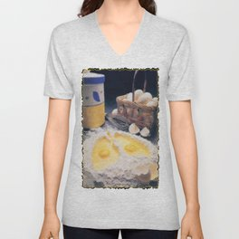 Eggs Unisex V-Neck