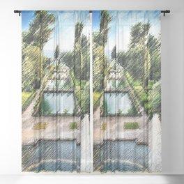 Tivoli, Italy Villa d'Este Fountains & Gardens Landscape by Jeanpaul Ferro Sheer Curtain