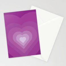 Purple heart Stationery Cards