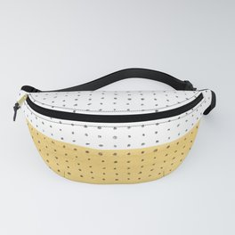 Abstract mustard shape and points Fanny Pack