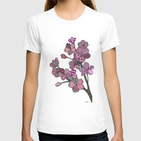 cherry blossoms T-shirts featuring Cherry Blossoms by Nina Gibson