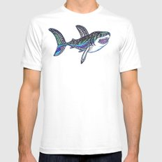 Great White White Mens Fitted Tee MEDIUM