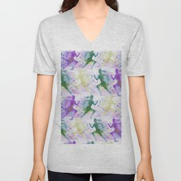 Watercolor women runner pattern Unisex V-Neck