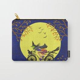 Broken Broom Halloween art print Carry-All Pouch