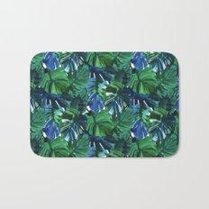 Palm Leaf Blue Green Bath Mat