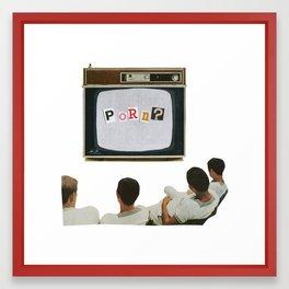 Daytime TV. Framed Art Print