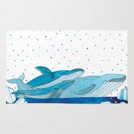 Noah's Ark - Blue Whale Rug