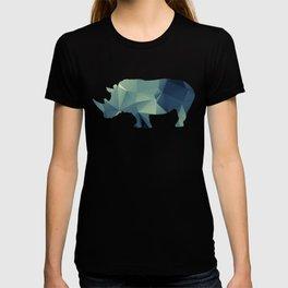 Rihno - blue geomatric T-shirt