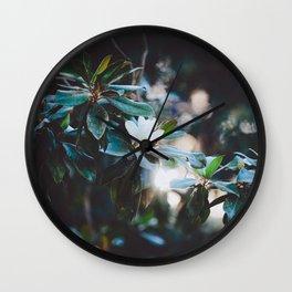 Floral V Wall Clock
