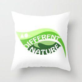 DIFFERENT NATURE ILLUSTRATION Throw Pillow