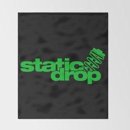 Static drop v5 HQvector Throw Blanket