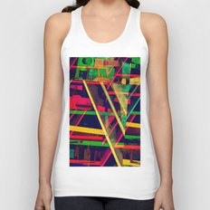 Industrial Abstract Green Unisex Tank Top