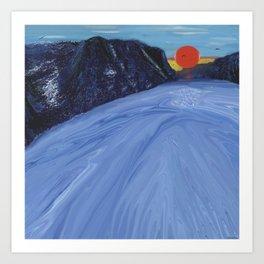 Full Moon Mountain Art Print