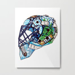 Luongo - Mask Metal Print