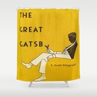 gatsby Shower Curtains featuring The Great Gatsby by MW. [by Mathius Wilder]