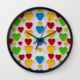 So sweet and hearty as love can be Wall Clock