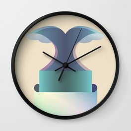 I wave letter Wall Clock