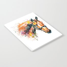 Colorful Horse Head Notebook