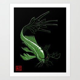Catfish Robot Art Print