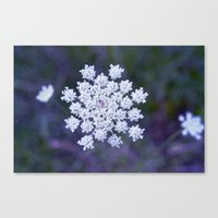 snowflake Canvas Prints featuring Snowflake by The Last Sparrow