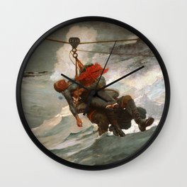 The Life Line by Winslow Homer, 1884 Wall Clock