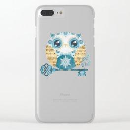 Winter Wonderland Owl Clear iPhone Case
