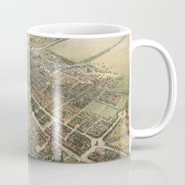 Vintage Pictorial Map of Mexico City (1869) Coffee Mug