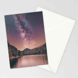 Milky Way Stars Night Sky Stationery Cards