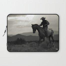 Santa Fe Cowboy on Horse Laptop Sleeve