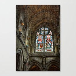 Chapel Stained Glass Window Canvas Print