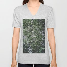 Moss covered tree Unisex V-Neck