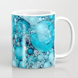 Ocean Atlantic Blue Bubble Abstract Coffee Mug