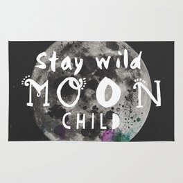 Stay wild moon child (full moon) Rug