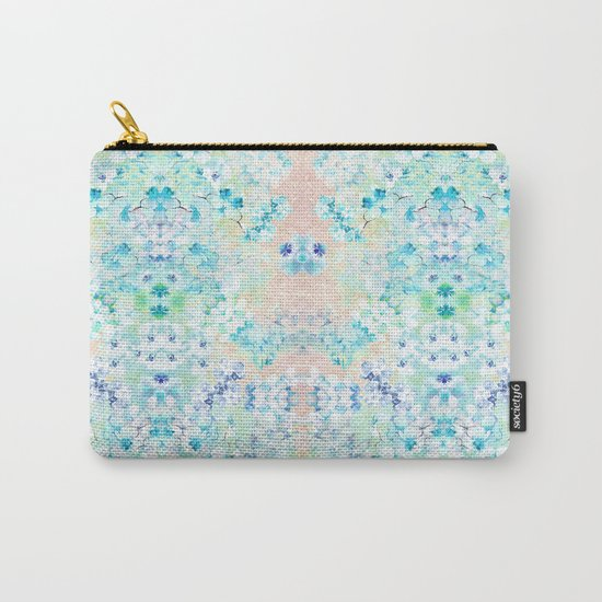 Pastel Flowers  Carry-All Pouch