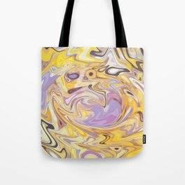 Yellow and Purple Car Wash Tote Bag