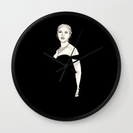 Black and Scarlett  Wall Clock