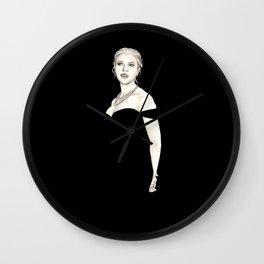 Black and Scarlett  Wall Clock