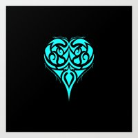 Suit Series: Heart in Geometric Tribal Art Print