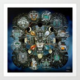 """Astrological Mechanism - Zodiac"" Kunstdrucke"